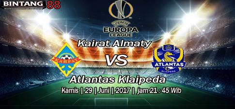 Prediksi Bola Kairat Almaty vs Atlantas Klaipeda 29 Juny 2017