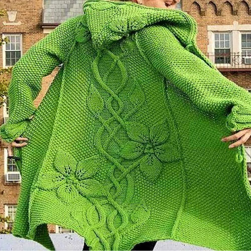Beautiful Knitting Coat - Tutorial