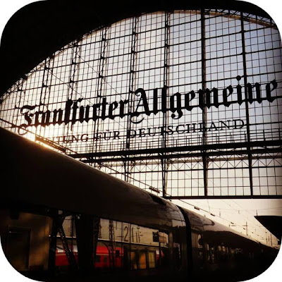 Christmas in Stuttgart - Taking the train from Frankfurt