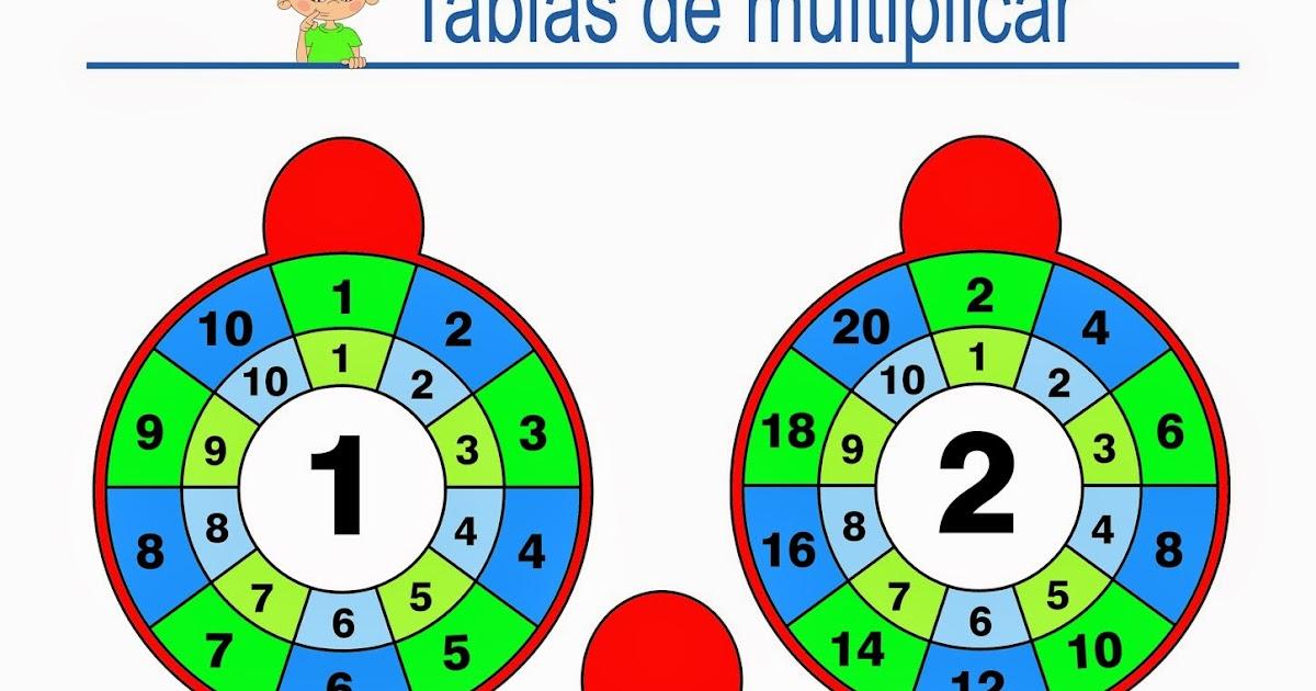 ruleta de las tablas de multiplicar para imprimir