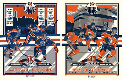 Edmonton Oilers 40th Anniversary Screen Prints #2 & #3 by M. Fitz x Phenom Gallery