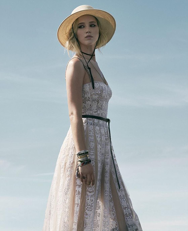 Jennifer Lawrence Dior'un Kampanyasında