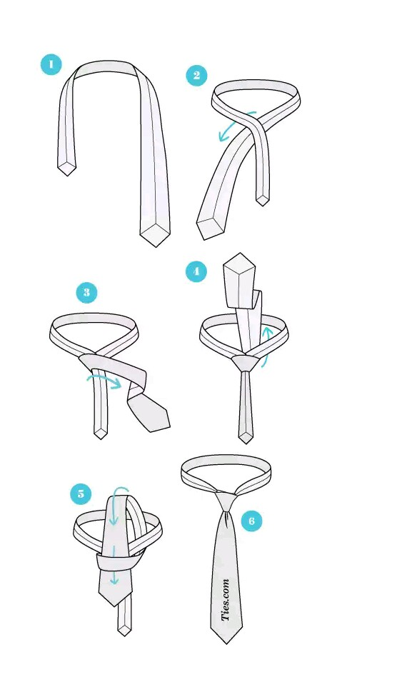 How to Tie a Tie - The Simple Knot (Oriental Knot)