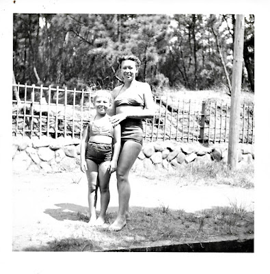 Natalie Vasilev and her daughter, Lena, in Japan around 1951.