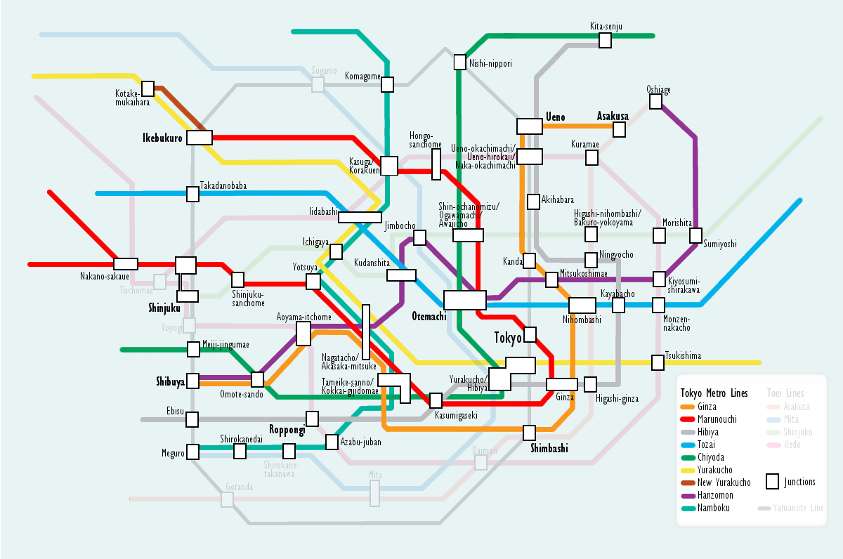 Tokyo Metro Map Routestation Information Travel World Map With Pins
