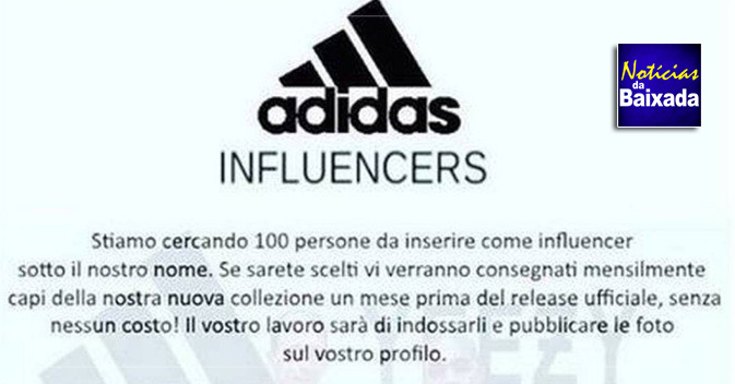 a3ea25f751 É #FAKE seleção de influenciadores da Adidas que circula no ...