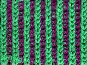 Two-color Brioche Stitch