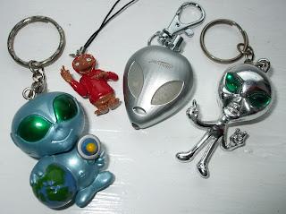 Assortment of alien keyrings