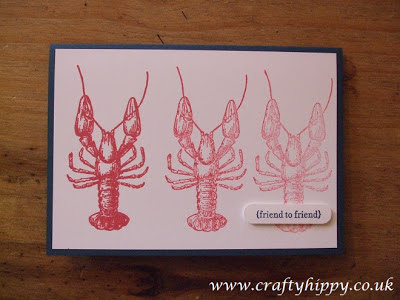 By The Tide, Stampin' Up! Lobster
