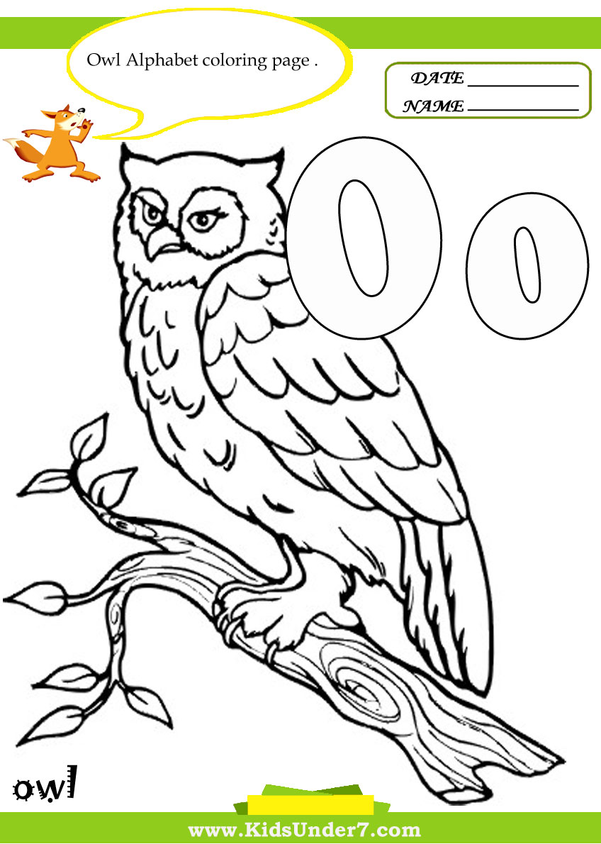Learn the alphabet and words while coloring with our printable alphabet coloring pages. Kids Under 7 Letter O Worksheets And Coloring Pages