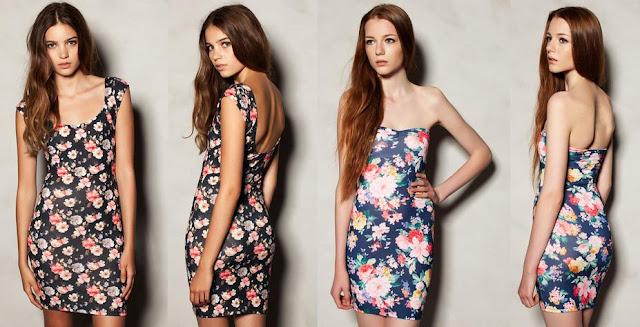 vestidos floreados 2013 pull and brear