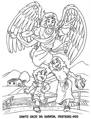 Catequizando com amor: Santos Anjos- para colorir