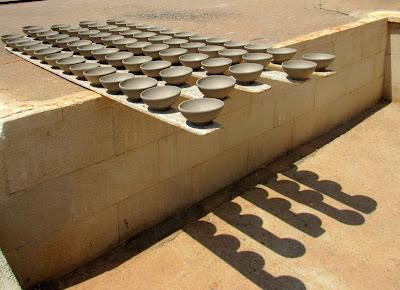 Cerámica secándose al sol. Barrio alfarero de Níjar