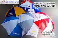 produksi Payung standar model kombinasi warna, grosir payung standar, Payung Standar Kombinasi warna daun, souvenir payung standar di tangerang