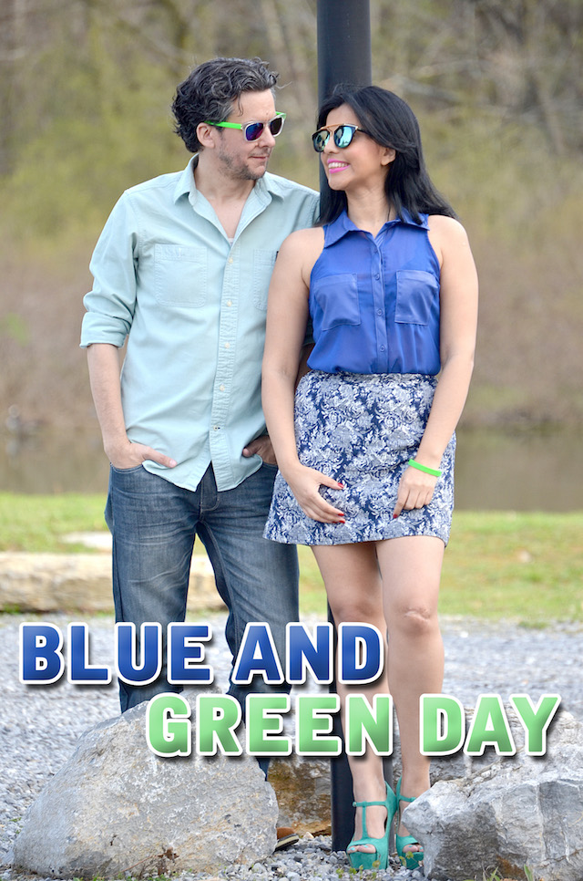 BLUE AND GREEN DAY -MariEstilo-DoneVida-Donate Life- ArmandHugon-Donación de órganos y Tejidos- Blogger Style