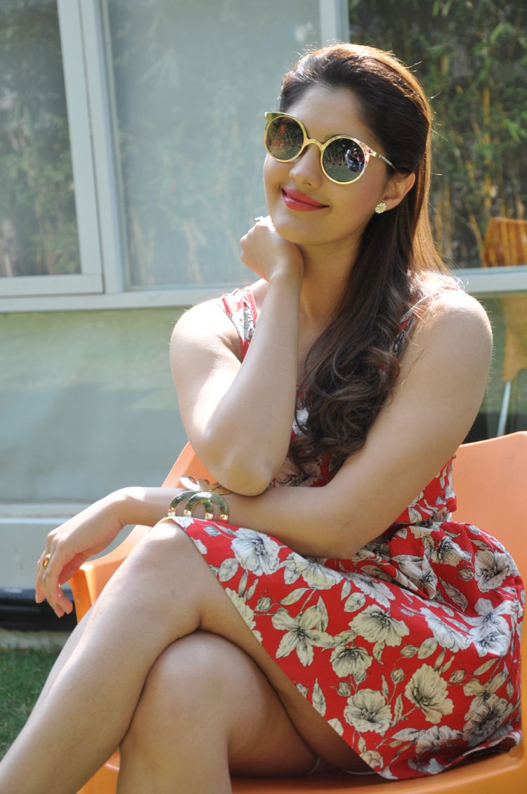 Surabhi Latest Thigh Show Photos In Red Dress