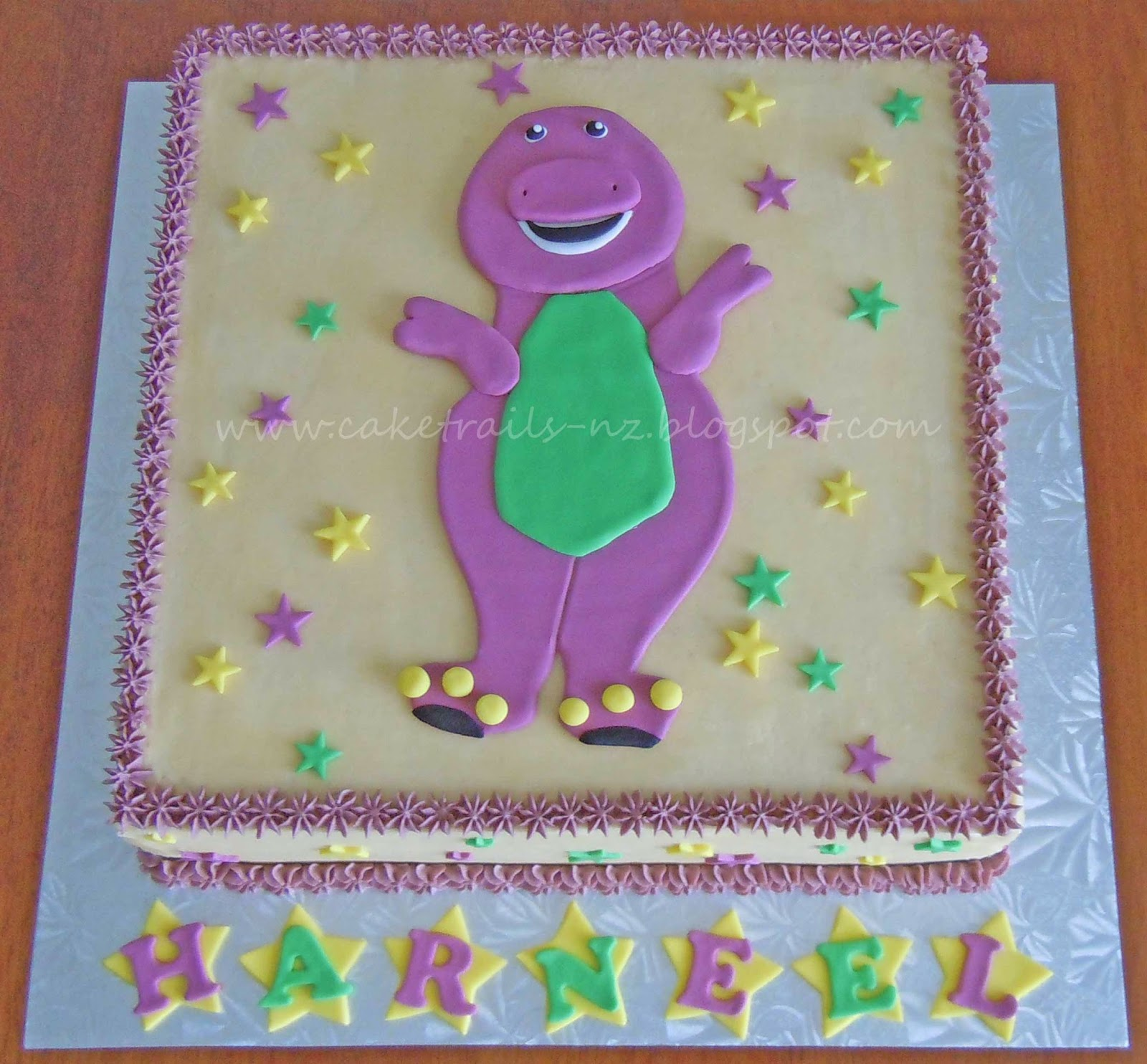 How To Make A Simple Barney Cake