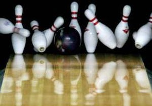 bowling alley pins