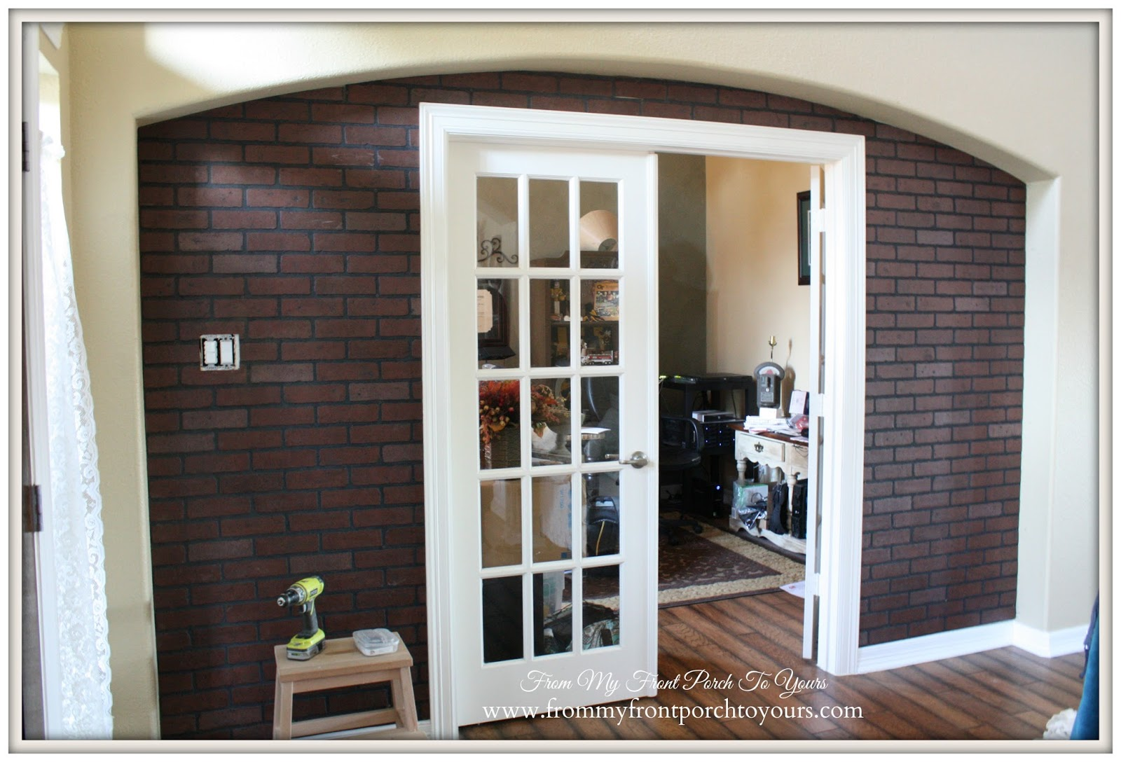 Lowes Faux Brick Wall Panels-DIY Faux Brick Wall- From My Front Porch To Yours