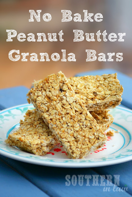 No Bake Peanut Butter Banana and Honey Granola Bars - gluten free, vegan, sugar free, no bake recipe