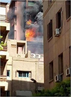 حريق هائل بمستشفى الحسين الجامعي، و الحماية المدنية تسيطر علي الموقف