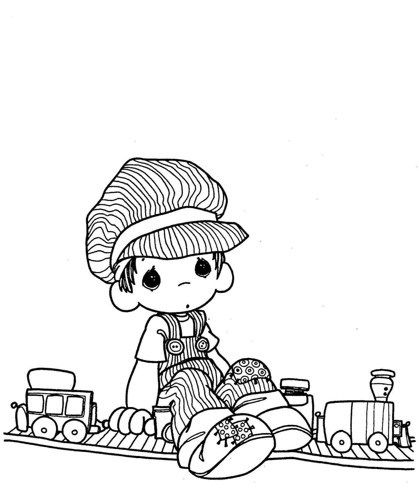 Precious Moments Drawings Child Coloring Engineer Child