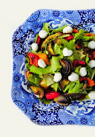 Roasted Vegetable and Mozzarella Salad