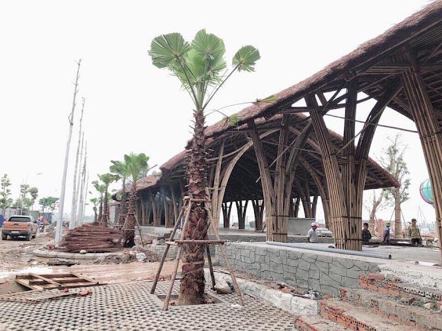 Nhà chờ tại công viên nước Thanh Hà Mường Thanh