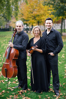 Trio Elegiaco: John Paul Ekins (piano), Hannah Dawson (violin), and Pierre Doumenge (cello)