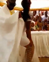 simu - This horny slay queen tried to simulate sex with the groom during a wedding then this happened (VIDEO)
