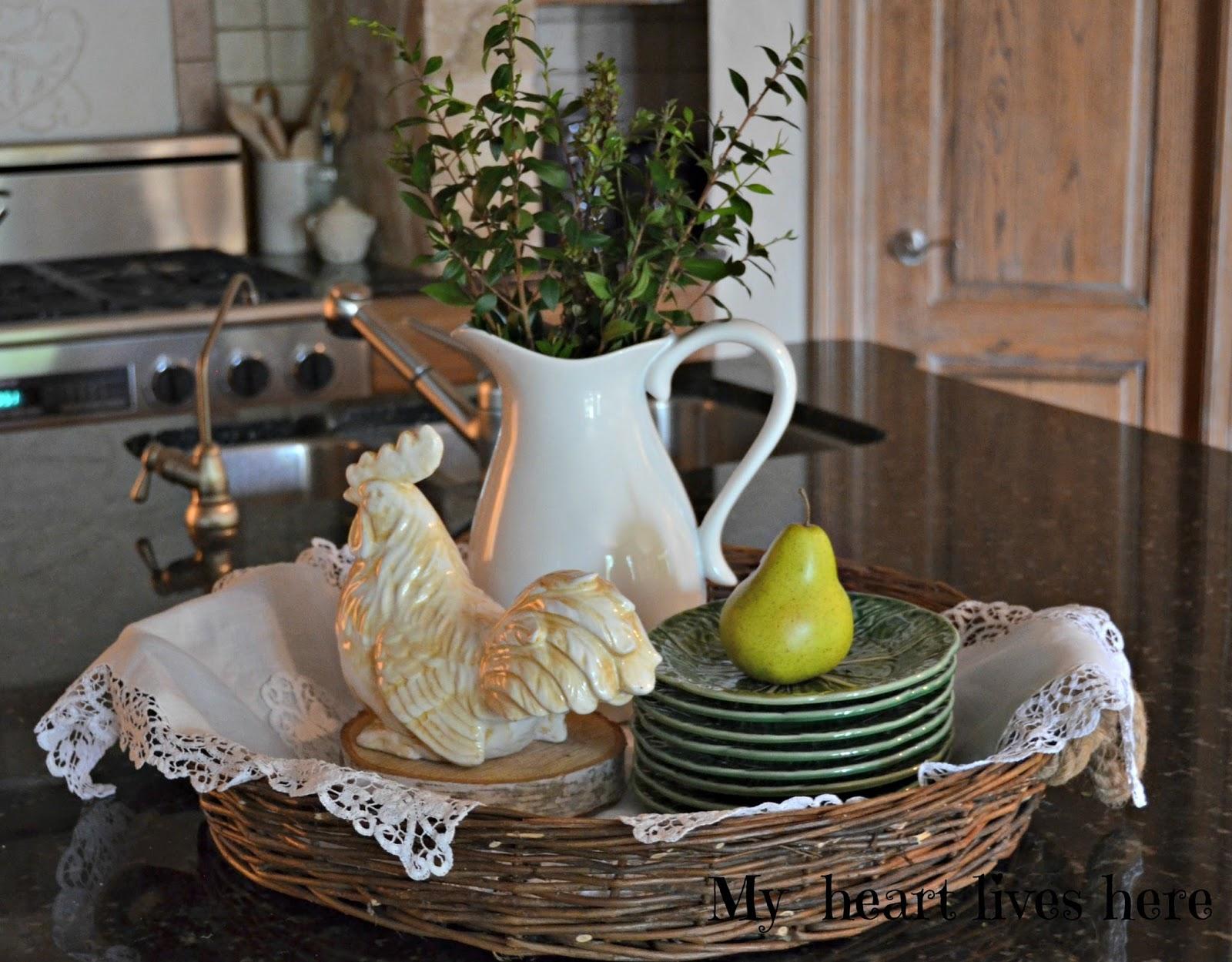 Rooster Basket Kitchen Decor Ebay