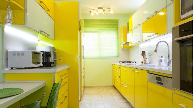 Cozinha Amarela e verde