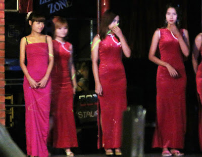 Asian beauties on stage