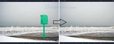 cara menghilangkan objek foto