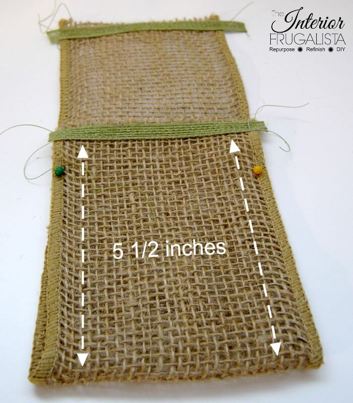 Spring Burlap Ribbon Cutlery Holders Folded