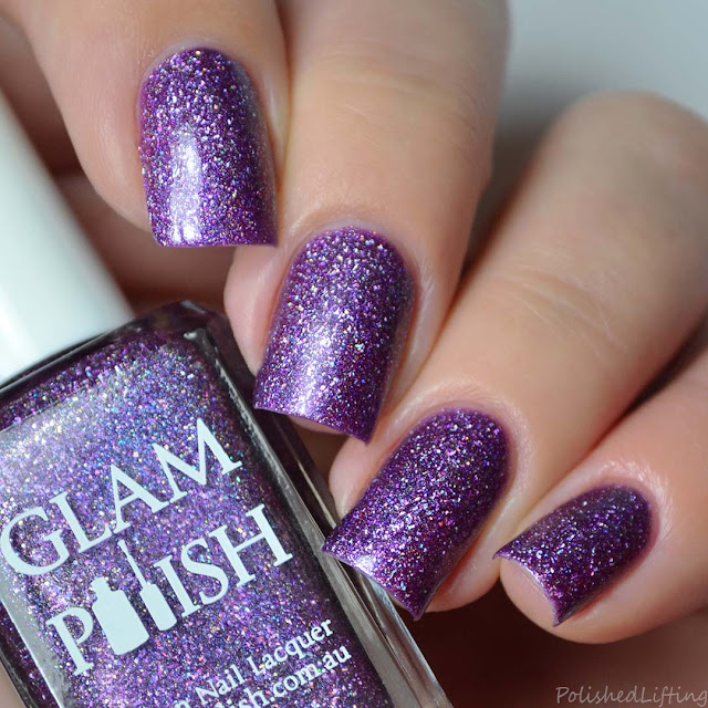 purple ultra holographic nail polish