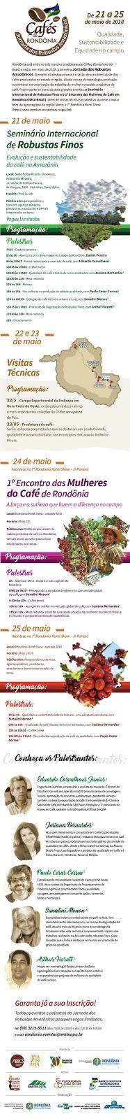 Jornada dos Robustas Amazônicos acontece de 21 a 25 de maio em Rondônia