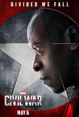"Captain America Civil War ""Team Iron Man"" Character Movie Poster Set - Don Cheadle as War Machine"