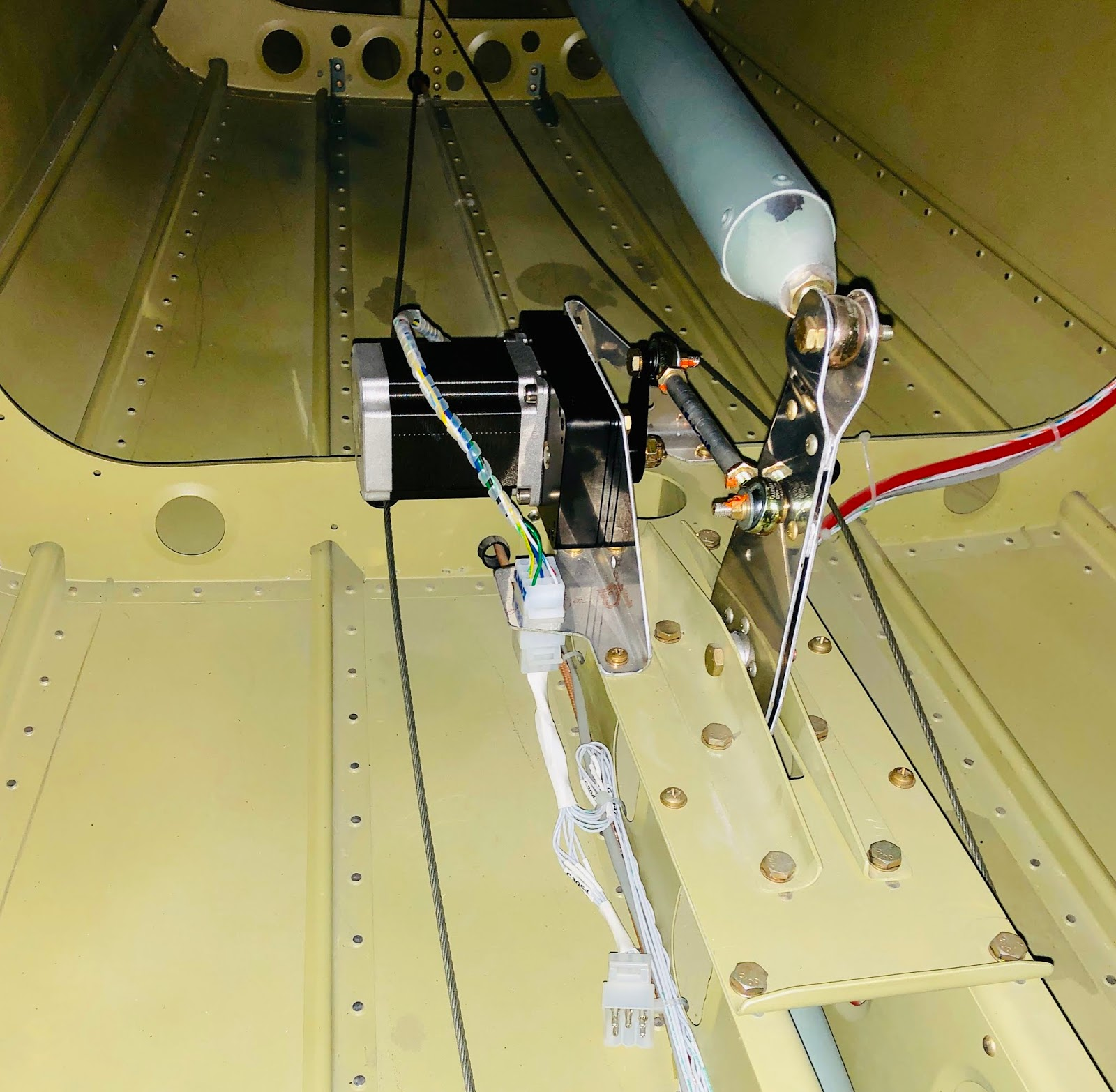 hight resolution of from there i continued laying the fuselage wire harness and wiring for the control sticks again it takes an enormous amount of time to get these things
