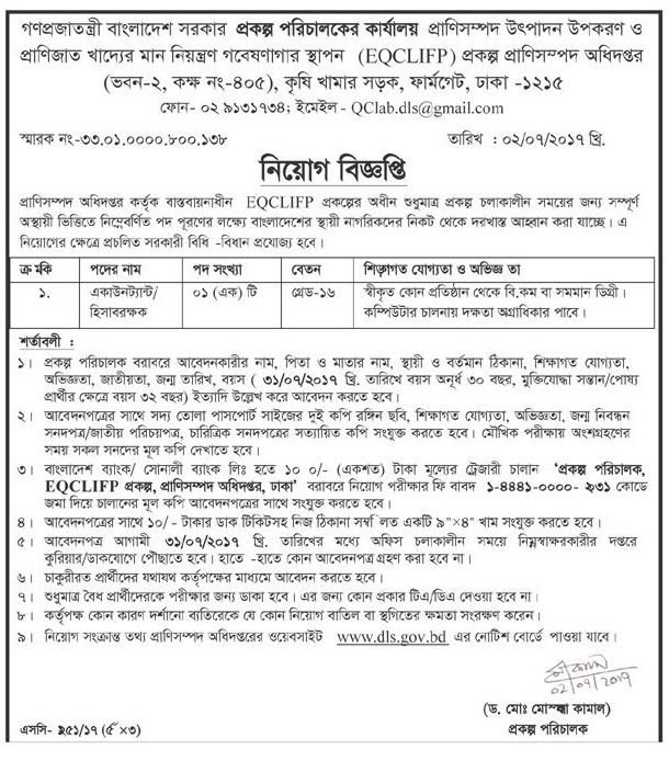 Recent BLRI Job Circular 2017 Download