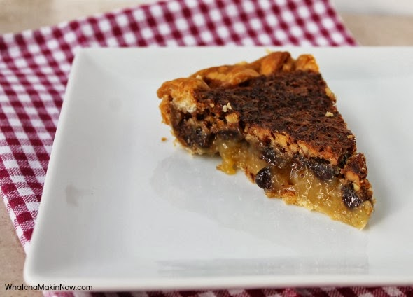 Chocolate Pecan Pie (aka Dixie Pie) - take the best pecan pie and add chocolate chips. Amazing!