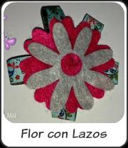 Flor con lazos