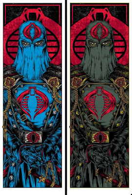 Acidfree Gallery x Hasbro G.I. Joe Screen Print Series - Cobra Triptic by Rhys Cooper: Cobra Commander Standard Edition & Variant