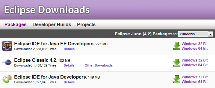 Eclipse download for windows