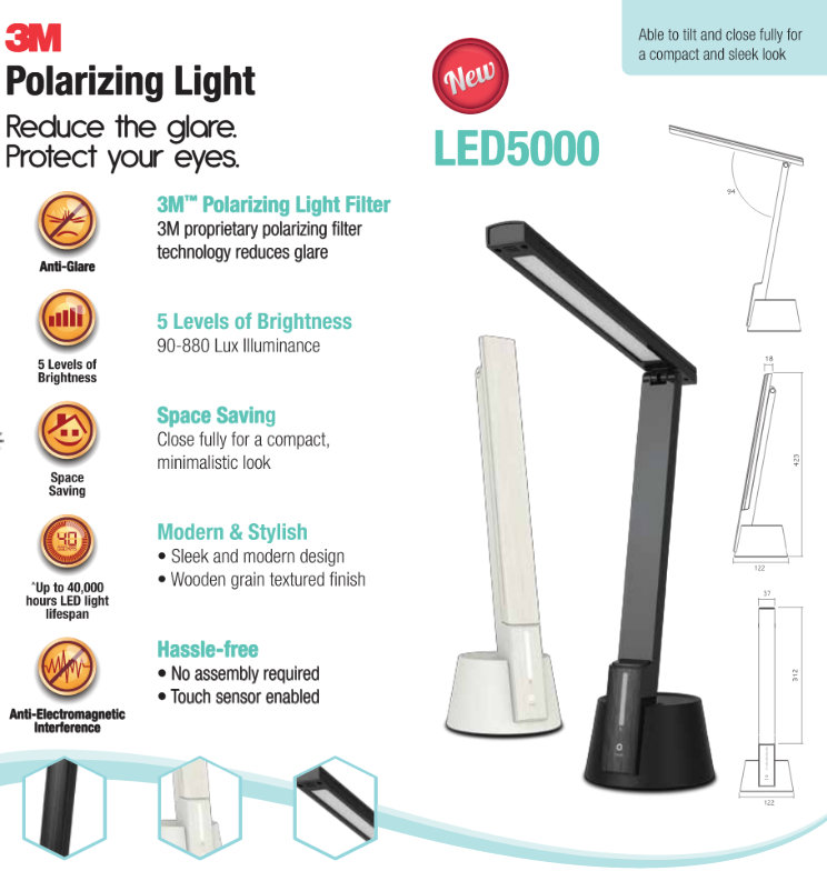 3m Led5000 Polorizing Light Choosing The Right Desk Lamp The Wacky Duo Singapore Family Lifestyle Travel Website