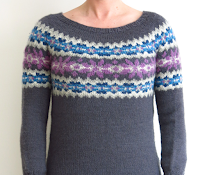 fairisle fair isle jumper sweater dress knitting pattern