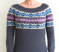 fairisle fair isle jumper sweater dress knitting pattern