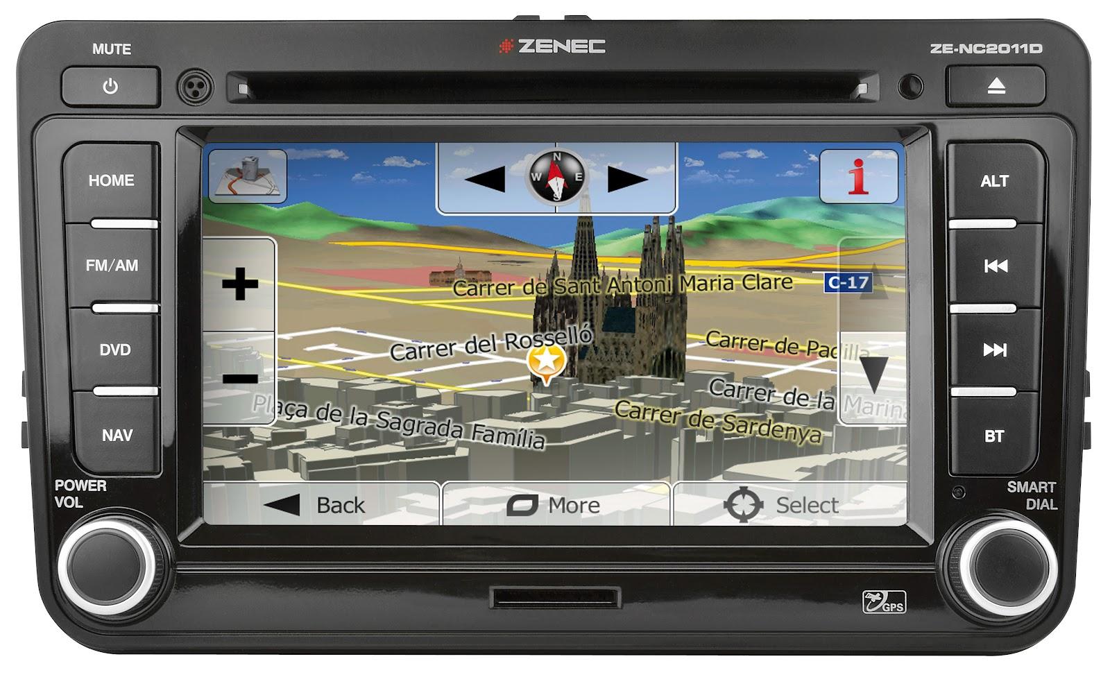 zenec navigatie zenec ze nc2011d volkswagen vw navigatie. Black Bedroom Furniture Sets. Home Design Ideas