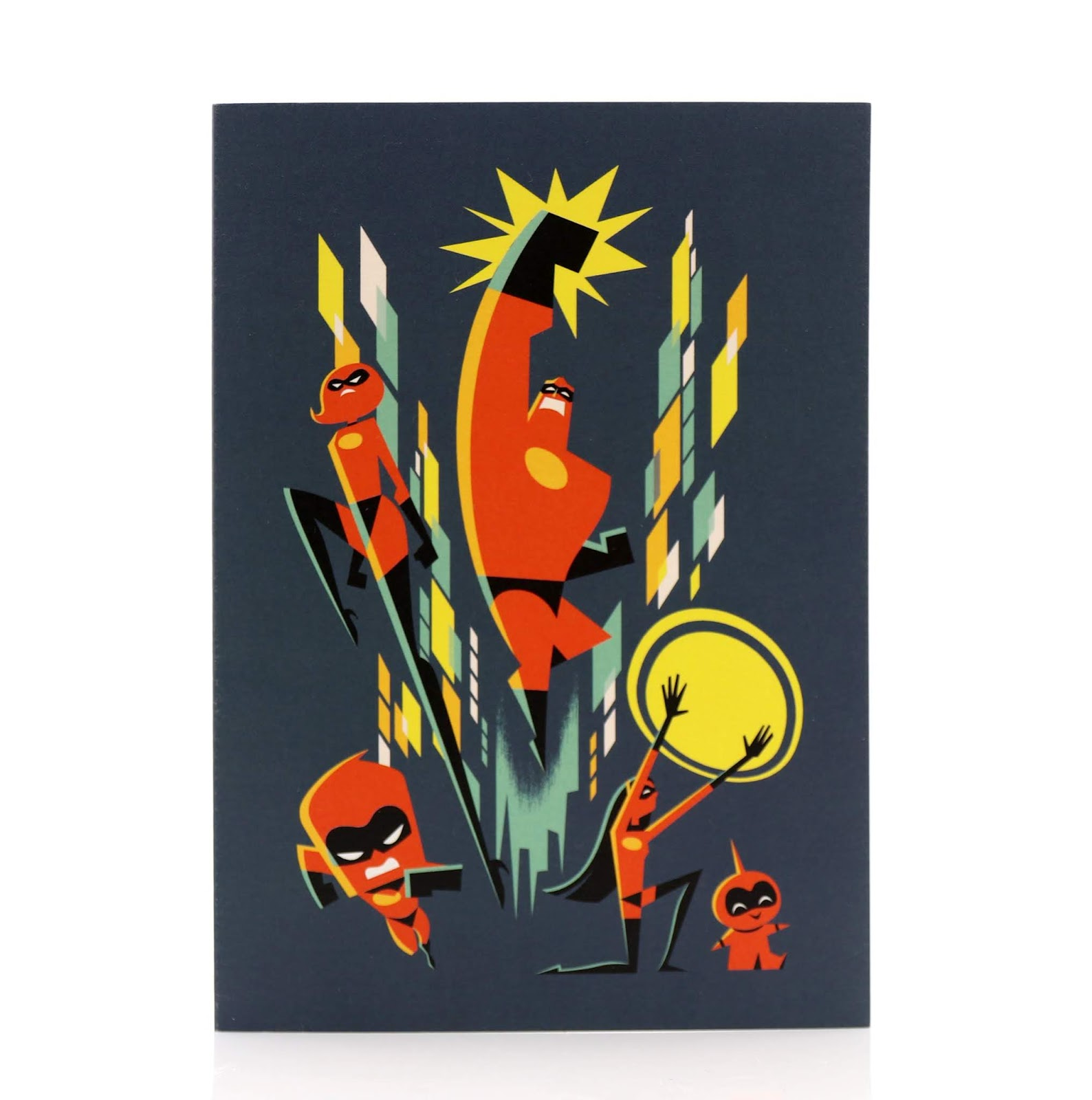 pixar studio store incredibles 2 eric tan art notecard