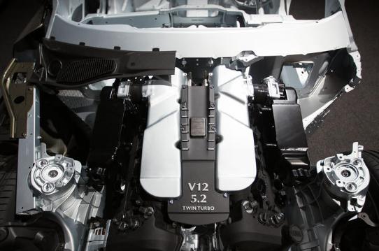 2017 Aston Martin DB11 Engine